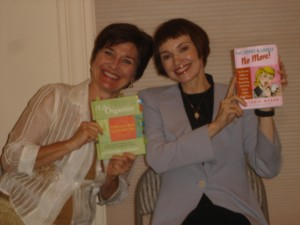 Jennifer Louden with Victoria Moran and their newest books