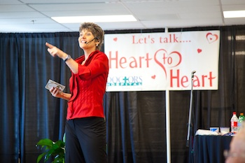 Zonya Foco speaking women's heart health, Zonya and Speak Well Being, Go Red for Women Speaker