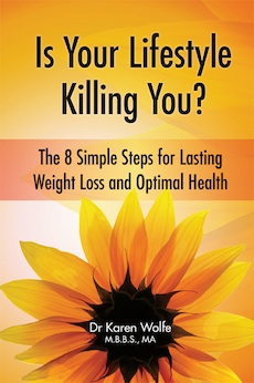 Dr. Karen Wolfe book, speaker on women's lifestyles, effects of diet and lifestyle on health