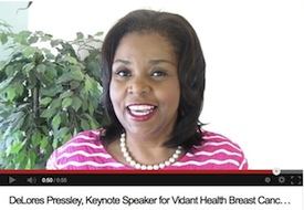 DeLores Pressley Vidant Health Pink Power Promo Video